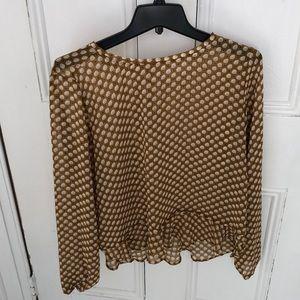 LOFT peplum blouse